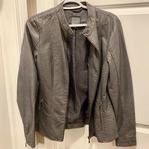 Reitmans faux leather moto jacket